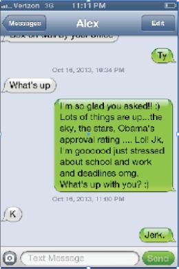 Etiquette texting