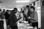 Students network at job fair