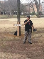 Campus evangelist lifting spirits